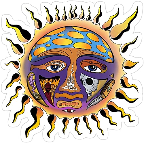 Sublime Sun Stickers, Vinyl Sticker,Funny Sticker, Gift Sticker