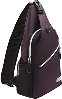 MOSISO Sling Backpack, Polyester Water Repellent Multipurpose Crossbody Shoulder Bag Travel Hiking Daypack,