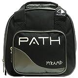 Pyramid Path Plus One Spare Tote Bowling Bag (Black/Silver)