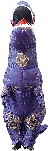 ¡No dudes! ¡Compra ahora! DMMASH Trajes Inflables De Halloween Dinosaurio Dinosaurio Dinosaurio Disfraces hombres Adultos mujeres Explosión,púrpura  tienda en linea