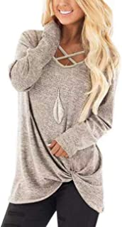 Womens V Neck Long Sleeves Casual Soft Sweaters Pullover...