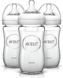 Philips AVENT - 天然玻璃奶瓶, 8 Ounce(240ml) (3个)(美国顺丰直邮包税)