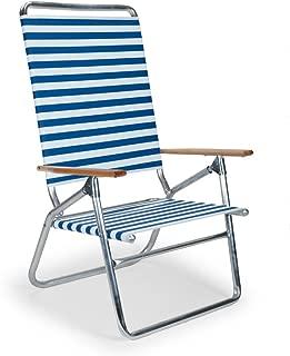 Telescope Casual Light and Easy High Boy Folding Beach Arm Chair, Blue White Stripe (71113601)