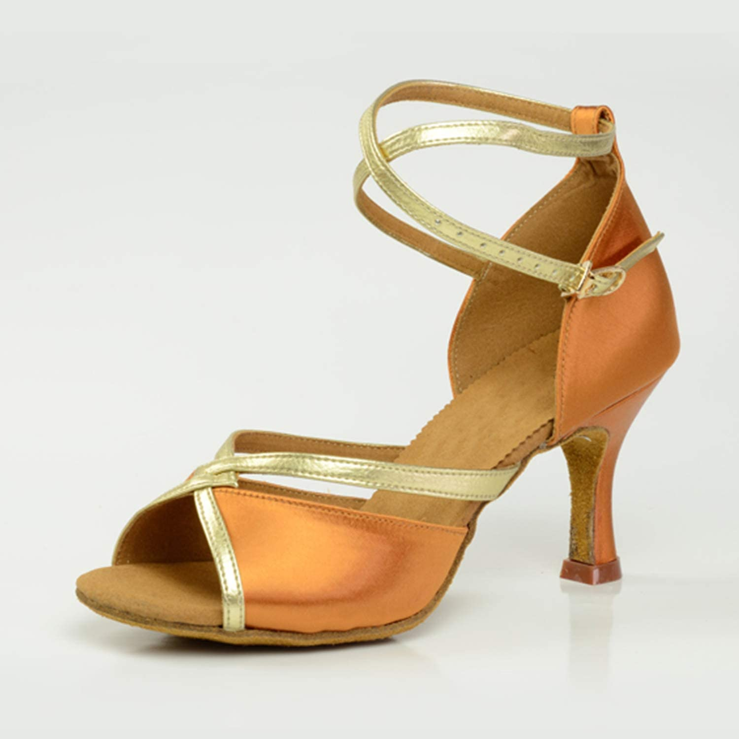 CJJC Fashion Women's Latin Ranking TOP1 Tango Dance low-pricing Open Med Shoes Simple Toe