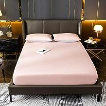 Klassiskt lakan,Hem Ren färg Enkel lakan Hushålls madrass Skyddande omslag-A_135 * 200 * 23cm,Andningsbart lakan