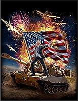 【FOX REPUBLIC】【戦車の上に立つバーニー上院議員】 黒マット紙(フレーム無し)A4サイズ