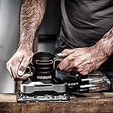 Worx WX642.1 Schwingschleifer – Elektrisches Profi Schleifwerkzeug mit 270W – Inkl. Schleifpapier & Koffer – Größe: 187 x 90 cm - 2