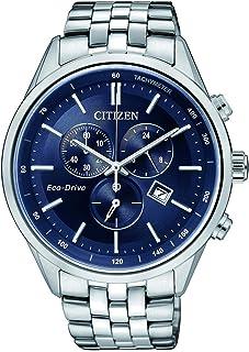 ساعة يد من سيتيزن عملية كاجوال للرجال انالوج من الستانلس ستيل - aT2140-55L
