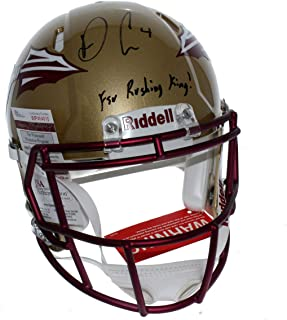 Dalvin Cook Florida State Seminoles Autographed Signed Riddell Full Size Speed Authentic Helmet with FSU Rushing King Inscription - JSA