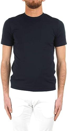 CRUCIANI Homme CUJOSBG3010973 Bleu Coton T-Shirt