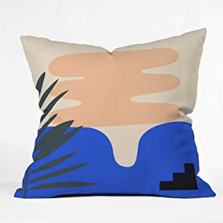"""Society6 Mpgmb Shape Study #14 – Stackable Collection Throw Pillow, 16""""x16"""", Multi"""