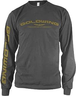 Honda Men's Gold Wing Charcoal Long-Sleeve T-Shirt, XL