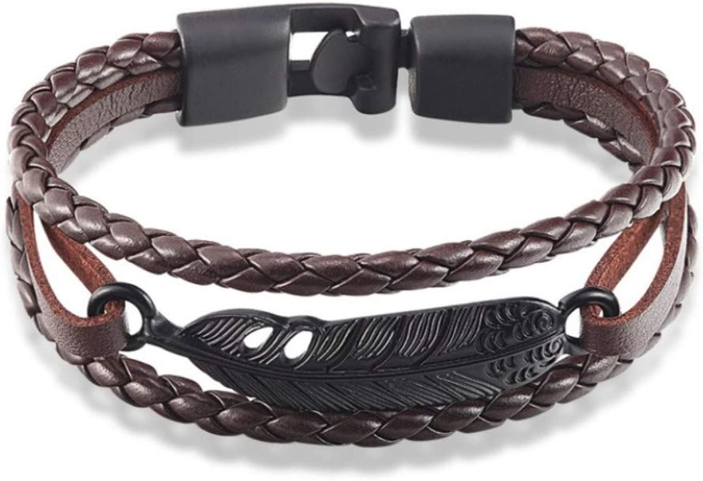 Bracelet Men,Fashion Jewelry Alloy Anchor Brown Bracelet Men Casual Personality Leather Bracelet Vintage Punk Bracelet Women