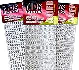 MDS Brand Buchstaben (1cm) zum beschriften von Kerzen 3er/pk für Taufkerzen, Kommunionkerzen, Hochzeitskerze oder dankeskarten, einfach zum basteln und gestalten 64(Silber)