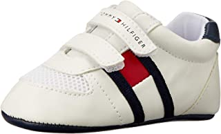 TOMMY HILFIGER Eco Leather Velcro Shoe Boys Eco Leather Velcro Shoe, White/Blue