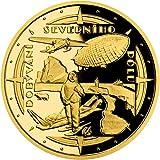 Conquest of The North Pole Exploradores Polares Moneda Oro 10$ Niue 2021