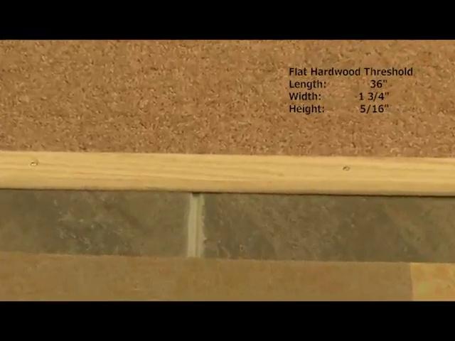 6 FT, Silver 1.75 Mini Threshold//Seam Binder Hammered Finish