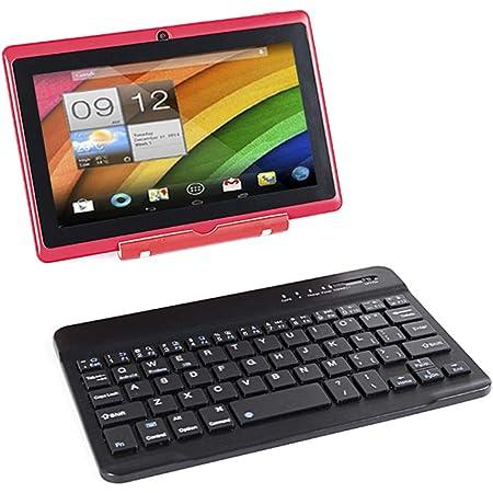 Tablet PC con pantalla táctil de 7 pulgadas, Android Quad Core, ordenador portátil, 8 GB ROM, doble cámara, WiFi, Bluetooth (rojo)