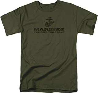 US Marine Corps Distressed Logo Unisex Adult T Shirt for Men and Women