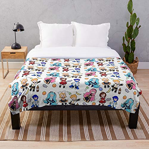 Len Luka Rin Anime Kagamine Megurine Miku Vocaloid Manga Hatsune - Anime- Blanket Premium Silky Smooth Printed Ultra-Soft Micro Fleece - Used for Home Beds, Sofas Bedrooms and Living Rooms I Customi