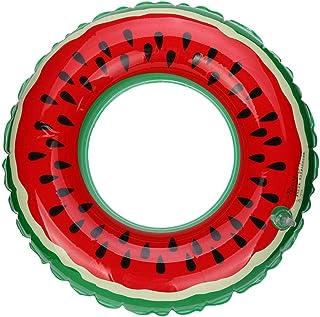 piscina inflable sandía nadar anillo adulto fruta nadar caliente flotador adulto fruta Gigante Inflable Piscina balsa Verano diversión Piscina Juguete Playa Fiesta para Adultos 60cm 75cm 90cm (S-60cm)