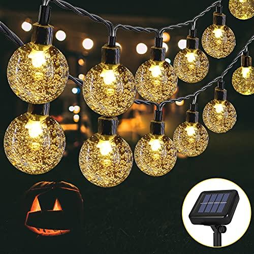 Opard Solar Lichterkette Aussen, 6.45M 30 LED Outdoor Lichterkette, 8 Modi für Garten, Bäume, Weihnachten, Hochzeiten, Partys, Innen und Außen(Warmweiß)