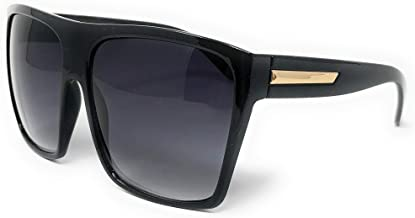 Super Oversized Sunglasses Unisex Flat Top Square Frame Fashion Wear
