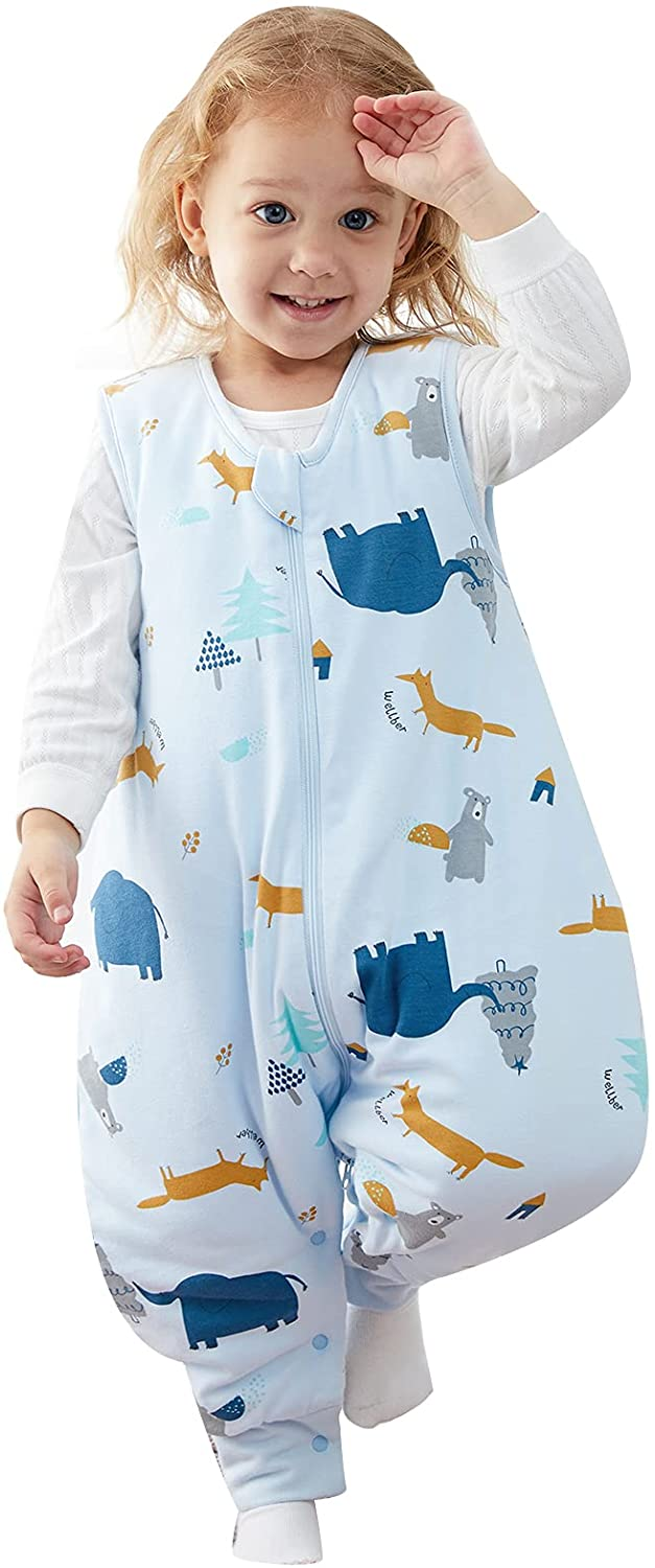 Duomiaomiao Baby Sleep Sack with TOG Recommendation Cotton 1.5 Minneapolis Mall 100% Feet
