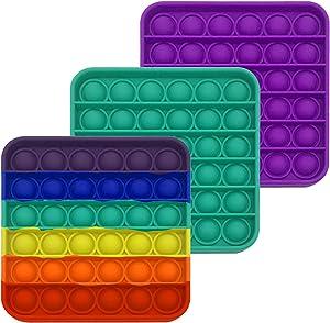 3 Pack pop it Fidget Sensory Toy - Toy Fidget Pack - pop it Fidget Toy Cheap for Desk - Relaxing Stress Toys - Outdoor Toys - Great Fidget Packs -