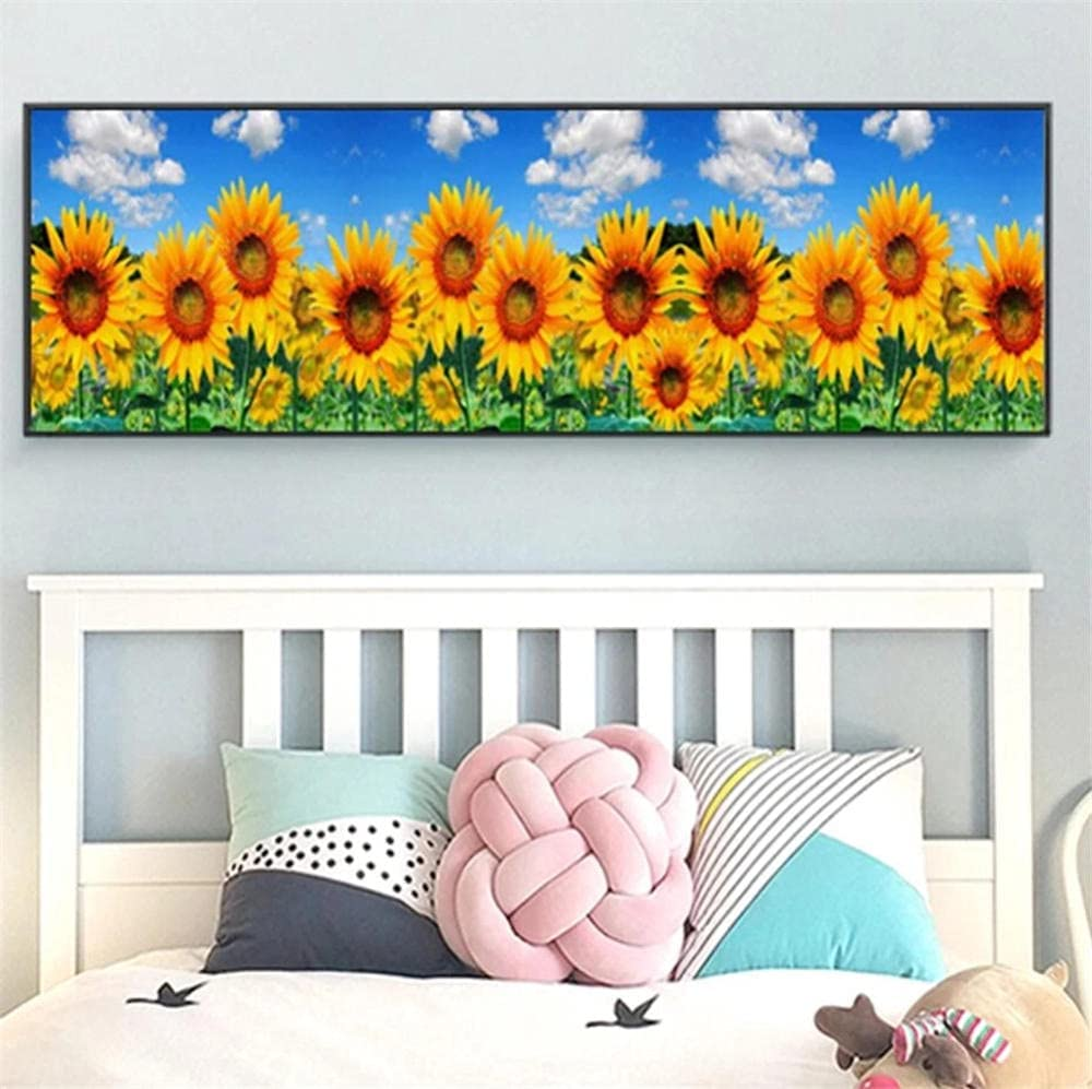 DIY Popular overseas 5D Diamond Painting by Kits Number Sunflower favorite Embroi