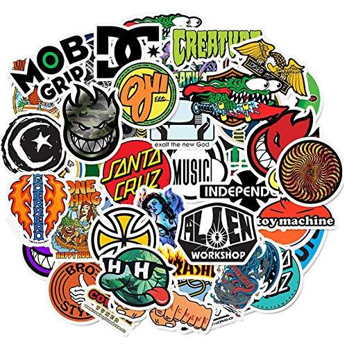 PMSMT 10/30/50 Uds, Pegatinas con Logotipo de Marca Genial, monopatín Impermeable, Libro de Guitarra, Equipaje de Motocicleta, Pegatina de Graffiti, Juguete para niños y niñas