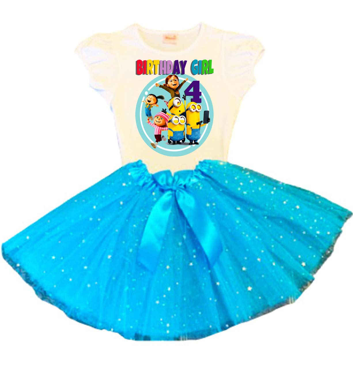 Minions Birthday Tutu Fixed price for sale 4th Turquoise Party Phoenix Mall Dress Ou