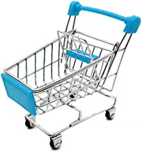 LW Mini Shopping Cart Supermarket Handcart Mini Shopping Cart Mini Supermarket Storage Toy (Blue)