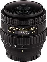 Tokina ATXAF107DXNHN 10-17mm f/3.5-4.5 AF DX NH Fisheye Lens for Nikon, Black