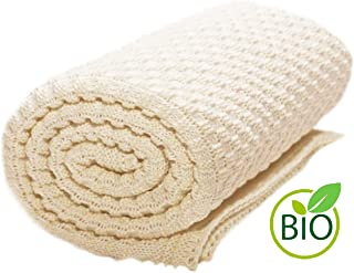 Wallaboo Baby Blanket Eden, Ivory Cream