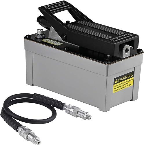 BESTOOL Air Hydraulic Pump - 10,000 PSI Hydraulic Foot Pump Pressure 1/2 Gal Reservoir Air Hydraulic Pump Air Actuate...