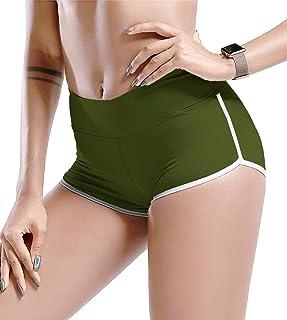 TYUIO Women's Athletic Yoga Shorts Running Workout Hot Pants Active Dolphin Shorts