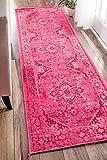 nuLOOM Reiko Vintage Persian Runner Rug, 2' 6' x 8' 6', Pink, 6' 6'
