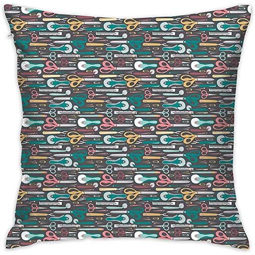 WHEYT Quilter \'S Nähvorschläge Kissenbezugbezug Polyester Kissenbezüge Quadrat 55X55 cm