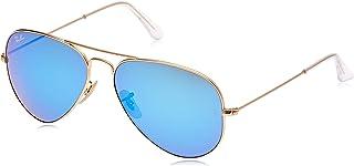 unisex-adult Rb3025 Aviator Classic Mirrored Sunglasses...