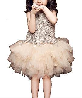 キッズ ドレス お花のレース ノースリーブ ワンピース 女の子 子供服 (110)