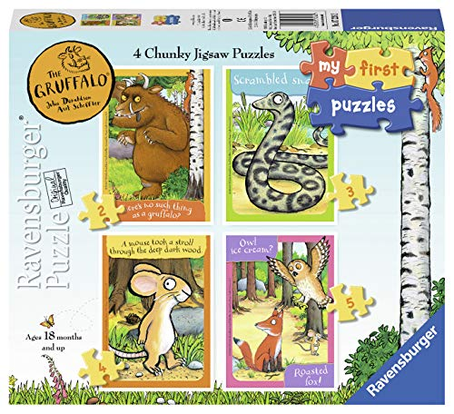 Ravensburger 72262 - My First Puzzles - 4 in 1 Chunky Jigsaw Puzzle Box - The Gruffalo/ Der Grüffelo