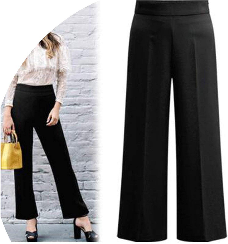 colorfulspace Wide Leg Pants Women Elegant OL Autumn Summer Elastic Waist Casual Work Trousers Plus Size 3XL 4XL 5XL