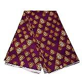Afrikanischer Stoff, violette gelbe Diamanten, Wachstuch
