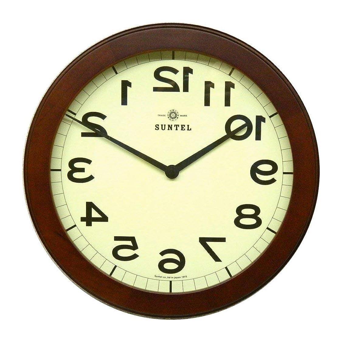 豊かなまたはストロー木製逆転時計 ブラウン 日本製 さんてる