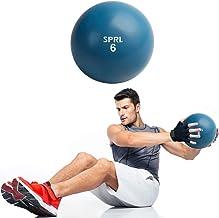 كرة تنغمة ناعمة بوزن 6 رطل من SPRI - كرة طبية محمولة باليد للتمرين للنساء والرجال - معدات تدريب القوة واللياقة البدنية