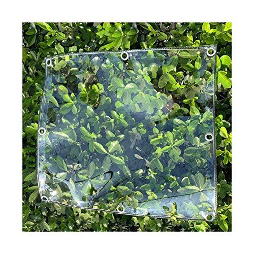 LM-Coat rack XINGLL Transparente Cobertura De Plástico, Antienvejecimiento Prueba Lluvia, con Ojales, Invernadero Plantas, Almacenamiento Aire Libre, Cubierta Jaula para Mascotas, 400G/㎡, 0,3Mm