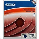 Draper DRA54665 - Lote de 5 adhesivos para lijadora de banda y disco, color azul, 200 mm