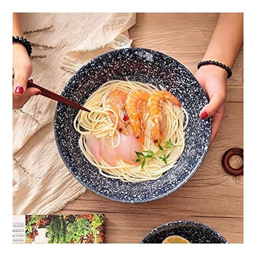 Cultura Folk Bowl Utensilios para el hogar, tazón de sopa de cerámica retro estilo japonés Creative Home Big Bowl of Ramen Vajilla personalizada Folk Culture Bowl