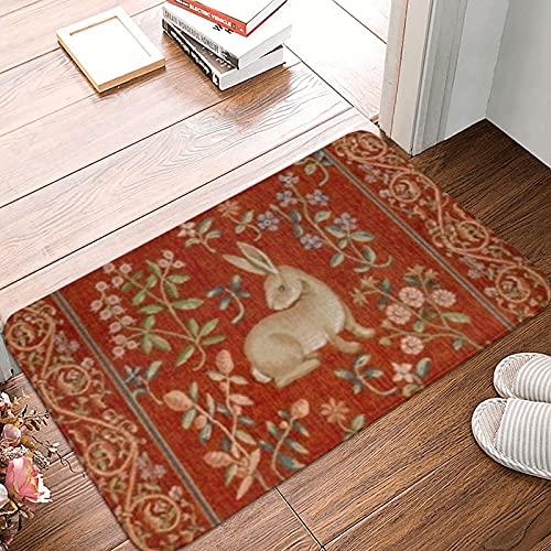 Alfombrilla para puerta para interiores y exteriores, antideslizante, absorbe rápidamente la humedad y resiste la suciedad para puerta, entrada, cocina, piso y oficina, cojín de tapicería vintage